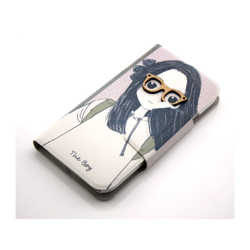 Girl Cute 3D Pattern Folio PU Leather Case with Cover for Samsung Galaxy s4 i9500