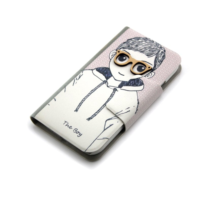 Boy Cute 3D Pattern Folio PU Leather Case with Cover for Samsung Galaxy s4 i9500