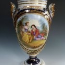 Antique French Empire Early Old Paris Porcelain Hand Painted Portrait Vase Urn