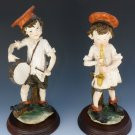Early HTF Vintage Retired Giuseppe Armani Italy Porcelain Musician Boy Figures