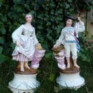 ANTIQUE OLD PARIS FRANCE FRENCH PORCELAIN PEARLWARE GILLET & BRIANCHON FIGURES