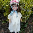 Delightful Old Antique German Smiling Dollar Princess Bisque Head Child Doll