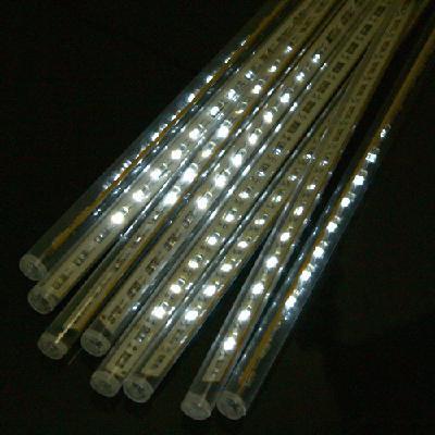white color led meteor shower rain tube lights outdoor