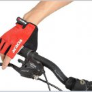 Bike Riding gloves Mountain bike half finger gloves--Red