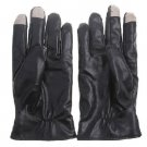 Men Luxurious Leather Electricity Melted Touch Gloves for All Capacitive Touch Devices