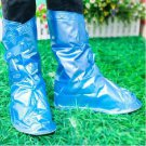 Blue adjustable rain shoe covers Size M