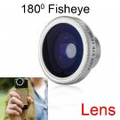 Detachable 180-Degree Fish Eye Lens for iPhone,Cell Phones and Digital Cameras