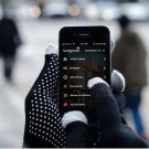 Smartphone Touch Screen Gloves For iphone gloves in Black