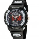 HighQuality PASNEW LED+Pointer Water-proof Dual Time Boys Girls Sport Watch--Random Color