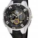 HighQuality PASNEW LED+Pointer Water-proof Dual Time Boys Sport Watch --N3
