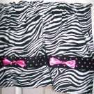 PUNK ROCK Gothic Zebra BOWS girls room ROCKABILLY Valance