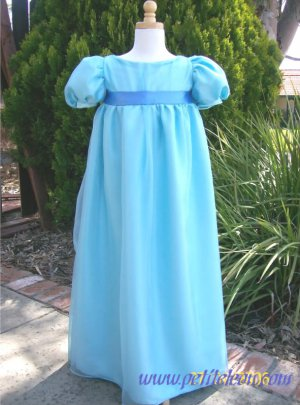 Wendy Darling Blue Nightgown Dress Girl Child Costume Peter Pan