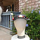 Mary Poppins COSTUME Hat Custom Black Straw Hat Dasies Cherries Nanny