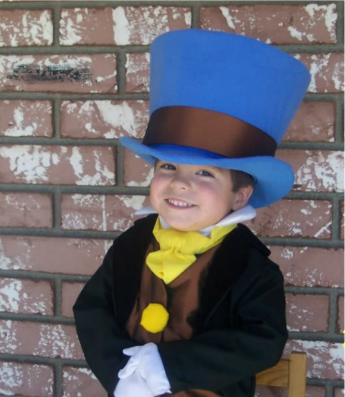 Jiminy Cricket Costume from Pinocchio with Wellington Style Top