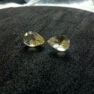 citrine large pair of pear shaped 5.75ctw