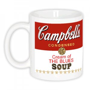 CREAM OF THE BLUES Campbell&#039;s Soup Pop Art Coffee Mugs