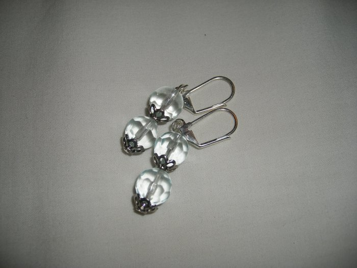 Silver and Crystal Bead Earrings