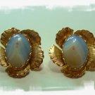Vintage Agate Clip Earrings