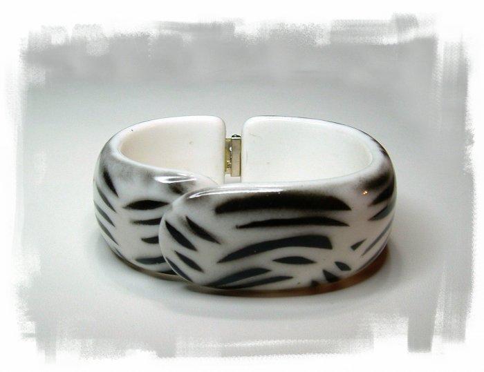 "Vintage Chunky Lucite Clamp Bracelet ""SOLD"""