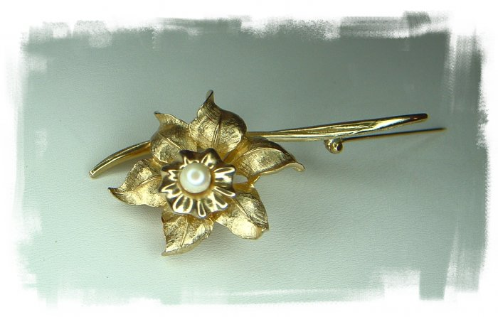 Jonquill Flower Brooch Numbered and Signed Boucher