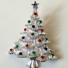 Vintage Christmas Tree Pin Signed Gerry's