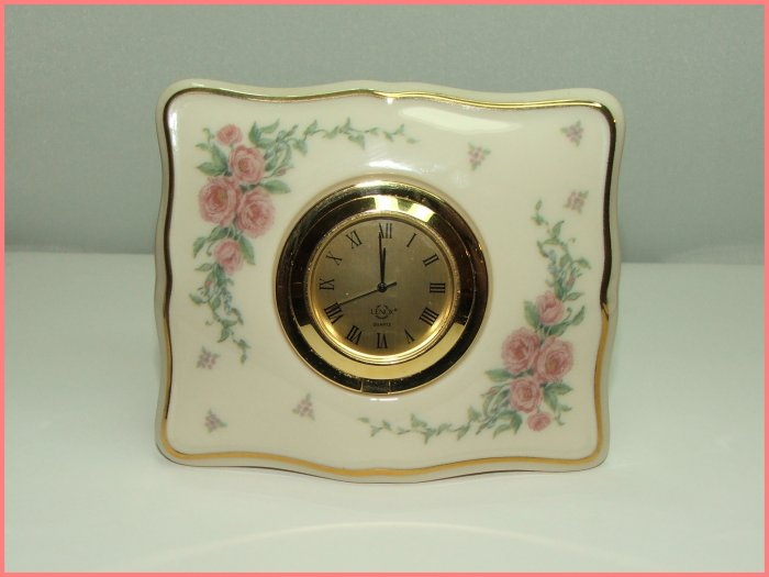 """SOLD""Lenox Porcelain Table Clock"