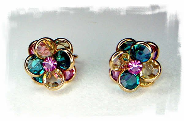 SOLD***Vintage Swarovski Crystal Clip Earrings***SOLD