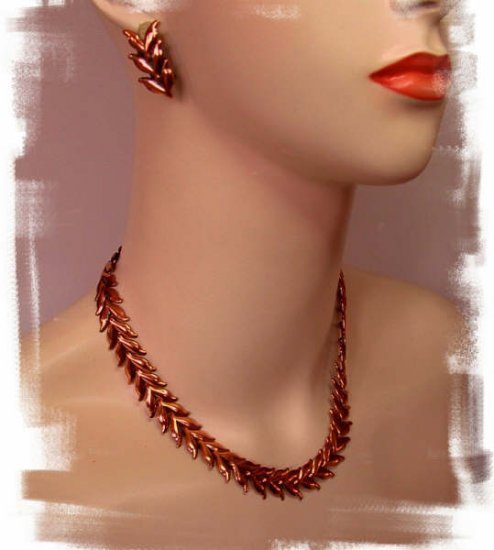 Vintage Renoir Copper Necklace, Bracelet, and Earrings