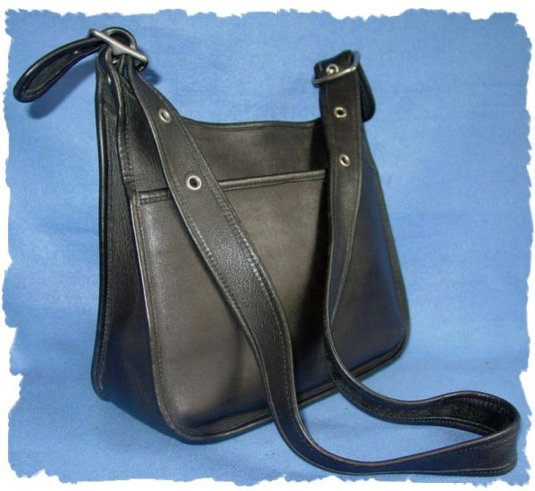 Classic Coach Black Leather Legacy Handbag