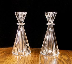 CRYSTAL VASE/CANDLESTICKS MARQUIS WATERFORD