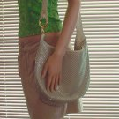 Vintage Whiting Davis Off White Mesh Sling Shoulder Bag
