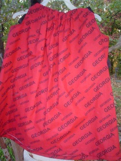 Georgia Bulldogs Pillowcase Dress