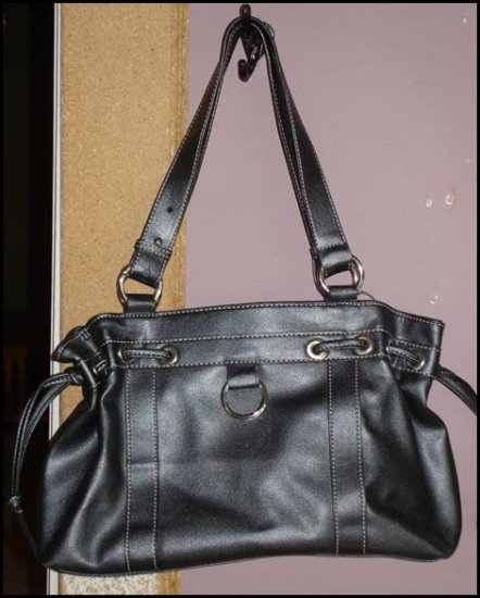 Shimmery black purse