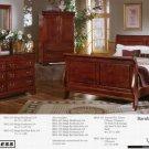 Bassett 7 Piece Cherry Sleigh Bedroom Set