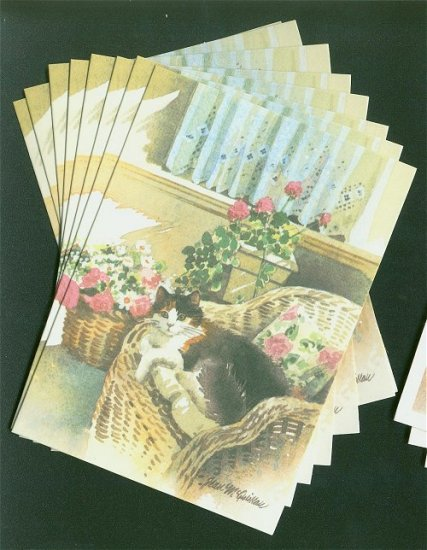 Cat Notelets Box of 8 Blank Cards with Envelopes #3