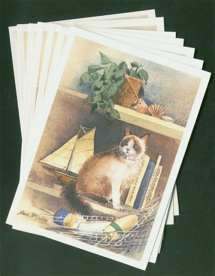 Cat Notelets Box of 8 Blank Cards with Envelopes #4
