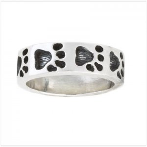 S.S PAW PRINTS BAND RING
