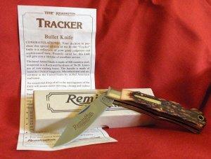 "Remington ""TRACKER"" Silver Bullet Lockback Knife"