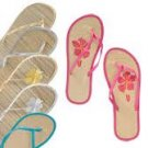 6 pairs of womens flip flops