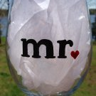 Mr. Groom Wedding Hand Painted Wine Glass