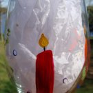 Happy Birthday Candles Hand Painted Wine Glass