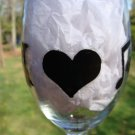 I Love Music Heart Music Note Hand Painted Wine Glass