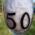 50 Reasons To Wine 50th Birthday Hand Painted Wine Glass