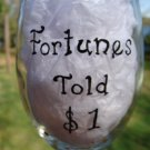 Fortunes Told $1 Hand Painted Wine Glass
