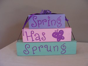 Spring Has Sprung Wood Stackers