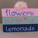 Flowers Sunshine Lemonade Wood Stackers