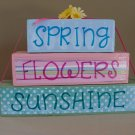 Spring Flowers Sunshine Wood Stackers