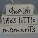 Cherish Life's Little Moments Wood Stackers