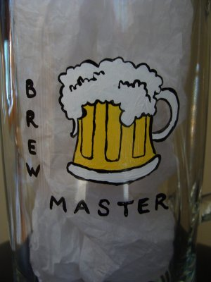 Brewmaster Hand Painted Beer Mug