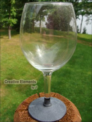 Chalkboard Hand Painted Wine Glass